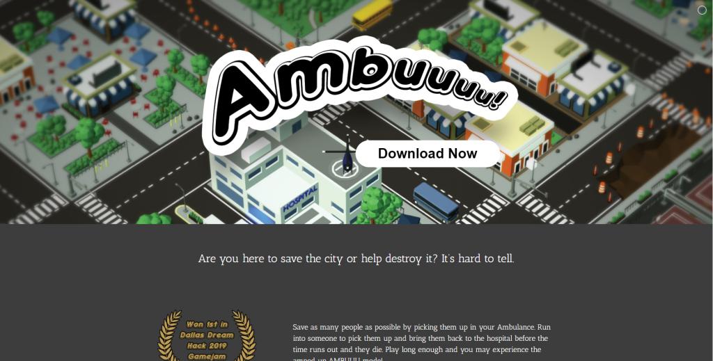 Ambuuu Landing Page
